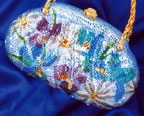 Blue Flower Evening Bag