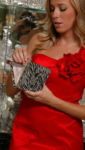 Wright Collection Model Looking into Swarovski®; Crystal Evening Bag